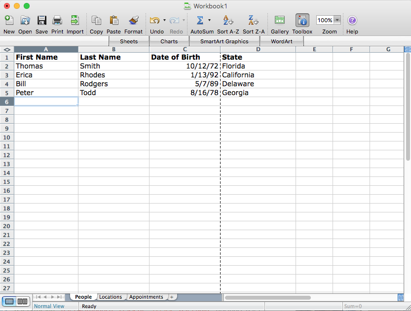 A database compared to an Excel spreadsheet to show what a database is